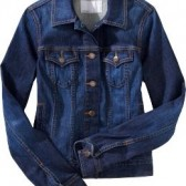 Women's Denim Jackets - Dark Worn
